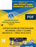 Capacitación Región Agosto 2018
