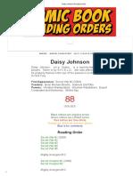 Daisy Johnson Reading Order