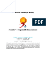 Module 7 Negotiable Instruments
