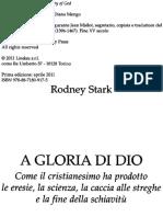 A Gloria Di Dio _ Come Il Crist - Rodney Stark