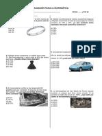 Evaluación Ficha 11 Matematica