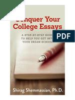 Conquer Your College Essays eBook