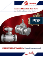 CIL Flanged Trunnion Mounted Ball Valve
