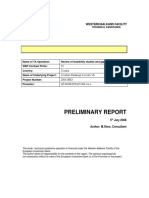Preliminary Report General Issue