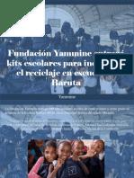 Yammine - FundaciónYammineEntregó Kits Escolares Para Incentivar El Reciclaje en Escuela de Baruta