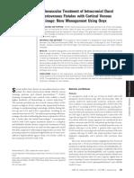 Endovascular Treatment of DAVF Using Onyx