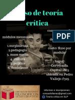 Curso de Teoría Crítica