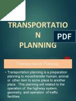 Transportation Planning (Transition Sem)