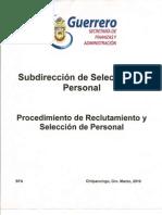 Manual de Procedimientos / Procedimiento de Reclutamiento y Selección de Personal
