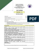 Cot.rating Sheet