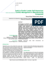 Mathematical Model to Predict Leader Self-Awareness and Effective Conflict Management in Manufacturing Companies