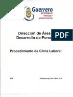 Manual de Procedimientos / Procedimiendo de Clima Laboral