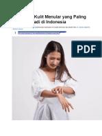 7 Penyakit Kulit Menular Yang Paling Sering Terjadi Di Indonesia