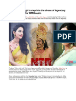 Rakul Preet Singh is Step Into the Shoes of Legendary Actress Sridevi for NTR Biopic