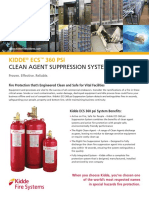 Kidde ECS 360 Psi Clean Agent Suppression System SS K-100