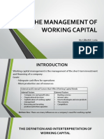 The Management of Working Capital