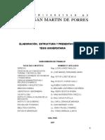 Elaboracion Estructura y Presentacin de La Tesis