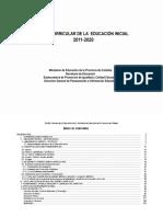 Diseño curricular de la educación inicial 2011 - 2020