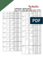 DIMENSIONES DE TUBERÍAS - PIPE DIMENSIONS