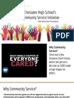 community service presentation  advisement 8 2f29 2f18