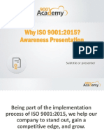 Why ISO 9001 2015 Awareness Presentation En