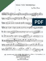 Chase Eight Trios for 3 Trombones - 1 Basun