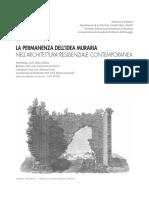 LA PERMANENZA DELL'IDEA MURARIA NELL'ARCHITETTURA RESIDENZIALE CONTEMPORANEA.pdf