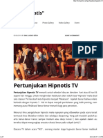 Pertunjukan Hipnotis TV