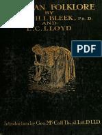 Bleek Wilheim H I & L C Lloyd 1911. Bushmen Folklore