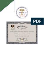 DR.LEOVEANU T.IONUT HORIA-Certificat Organizator Revedere 20 de ani absolvire medicina Vasile Goldis Arad 1998-2018