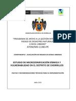 CHORRILLOS ZONA SISMICA