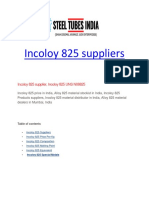 Incoloy 825 suppliers