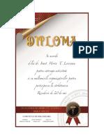 DR.LEOVEANU T.IONUT HORIA-Diploma Participare Revedere 20 de ani absolvire medicina Vasile Goldis Arad 1998-2018