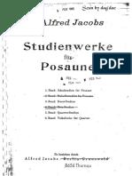 Jacobs Alfred Studienweke Fur Posaune Trombone Trios