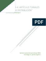 Estado de La Red de Distribución en Las Empresas Colombianas