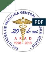 DR.LEOVEANU T.IONUT HORIA-Insigna Revedere 20 de ani absolvire medicina Vasile Goldis Arad 1998-2018