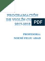 Conservatorio Programacion Violin 2017 2018