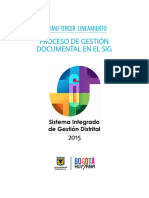 PROCESO DE GESTIÓN DOCUMENTAL EN EL SIG