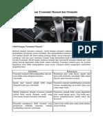 Perbedaan Transmisi Manual Dan Otomatis