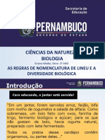 As Regras de Nomenclatura Binomial