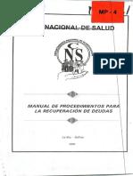 Manual de Procedimientos Para La Recuperación de Deudas