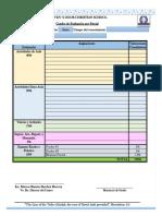 Formato Rúbricas de Evaluación 2018-2019 I Ciclo