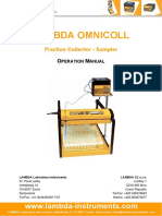 LAMBDA OMNICOLL Fraction Collector and Sampler Manual