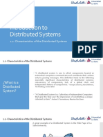 1.1- Characteristics of the Distributed Systems