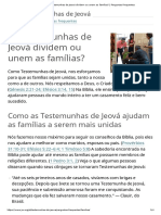 As Testemunhas de Jeová Dividem Ou Unem as Famílias_ _ Perguntas Frequentes