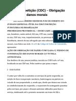 Modelo - Ação direito consumidor- fazer cumulada com danos morais.doc