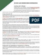 INSTITUCIONES DE LOS DERECHOS HUMANOS