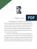 Biography on Karl Lagerfeld