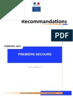 Recommandations Premiers Secours - V1 - Sept 2014
