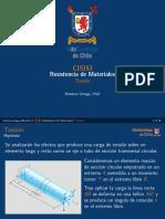 Resistencia de Materiales - Torsion en Tuberias